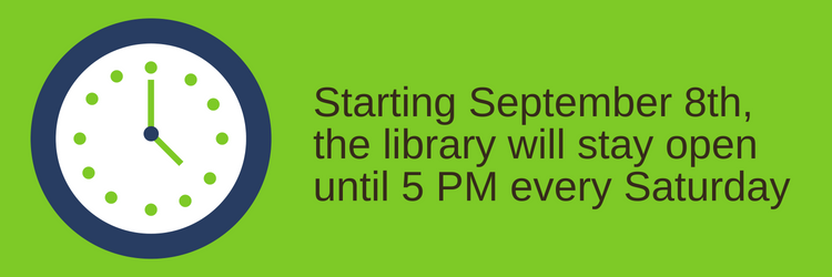 New Hours Starting in September